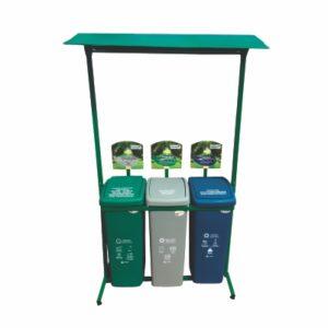 reciclaje canecas tres plastico